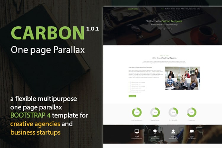 Carbon - Bootstrap Theme