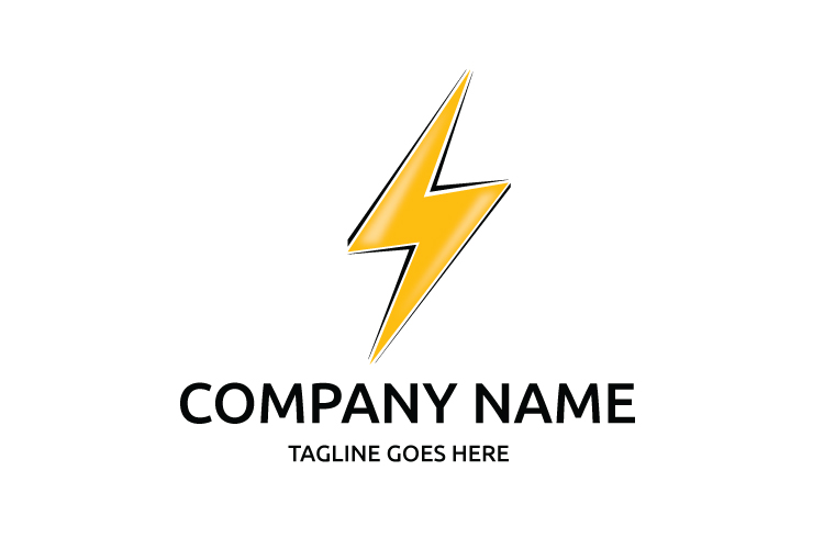 Lightning logo template