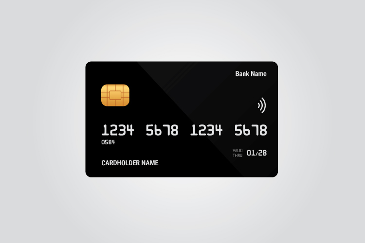Credit card template vector