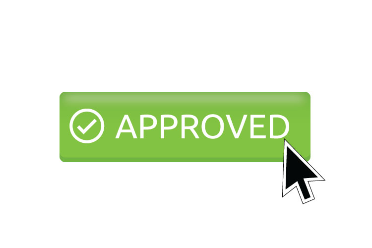 Approved button icon