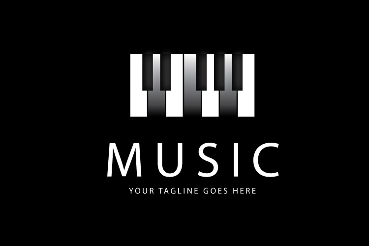 Piano logo template