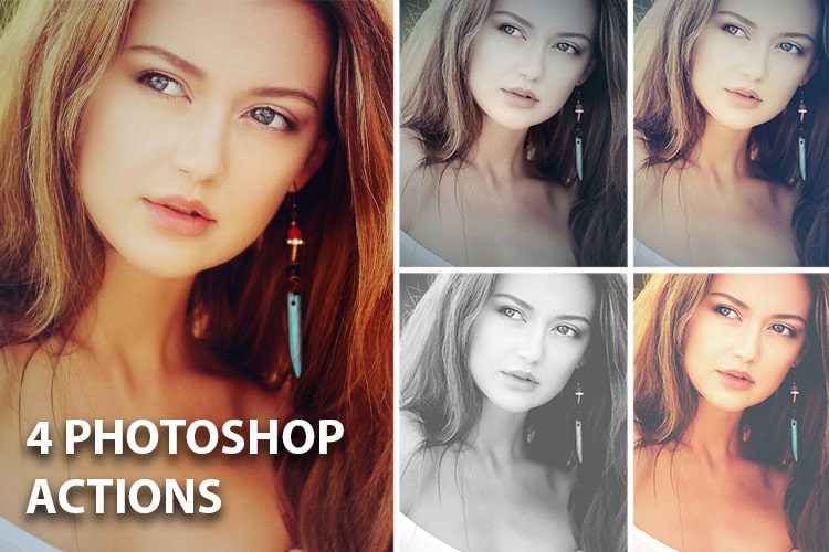 4 Photoshop Actions
