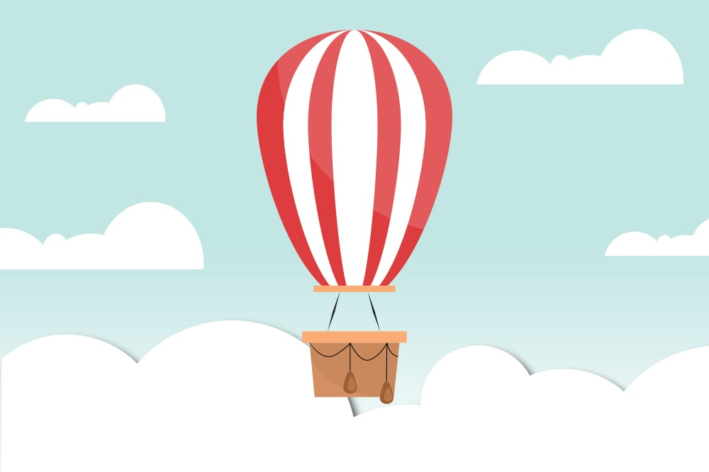 Hot air baloon background