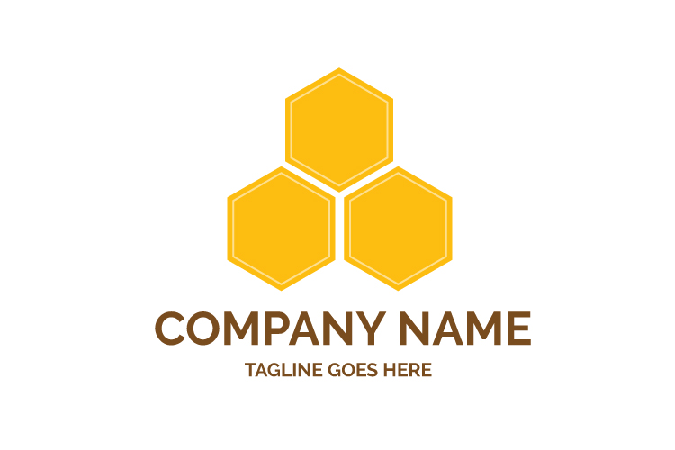 Hexagonal logo template