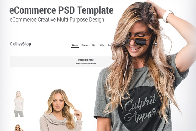 ClothesShop - PSD Template