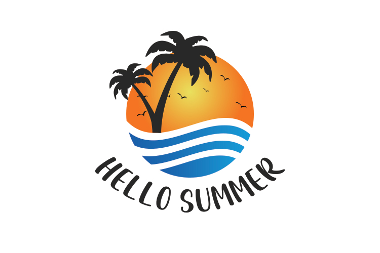 Summer logo template